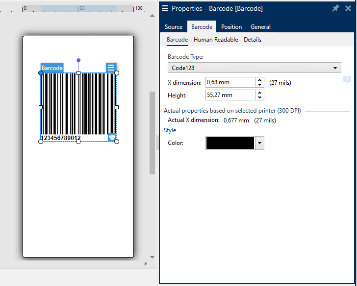 Nicelabel Barcode
